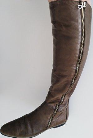 Alberto Fermani Stivale cuissard marrone-grigio