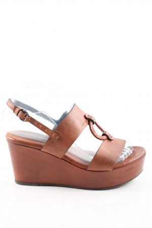 Alberto Fermani Wedges Sandaletten braun Business-Look