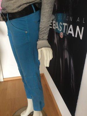 Alberto Pantalon 7/8 bleu acier