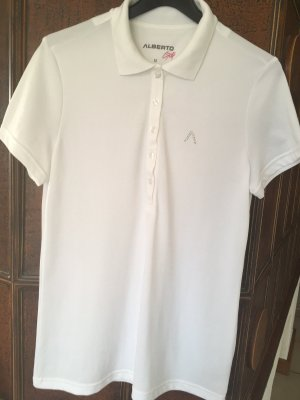 Alberto Golf T-shirt de sport blanc