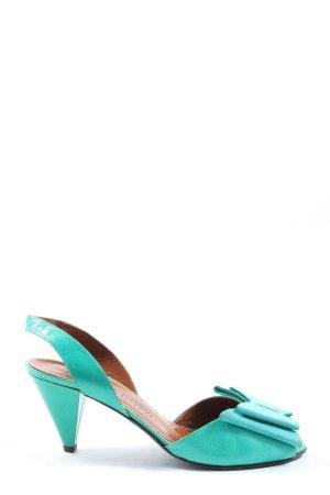 Alberto Gozzi Sandaletto con tacco alto blu stile classico