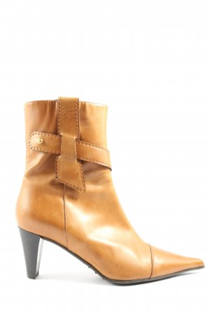Alberto Gozzi Zipper Booties light orange casual look