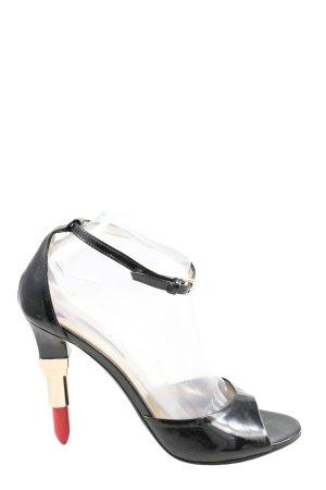 Alberto Guardiani Sandalen met bandjes en hoge hakken zwart extravagante stijl