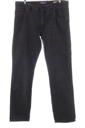 Alberto Pantalon taille haute motif à carreaux style décontracté