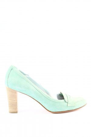 Alberto la Torre High-Front Pumps turquoise casual look