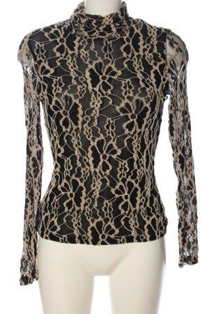 Alberto Makali Koronkowa bluzka czarny-w kolorze białej wełny Elegancki