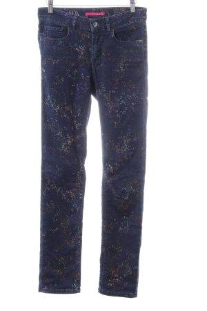 Alberto Slim jeans blauw-licht Oranje volledige print casual uitstraling