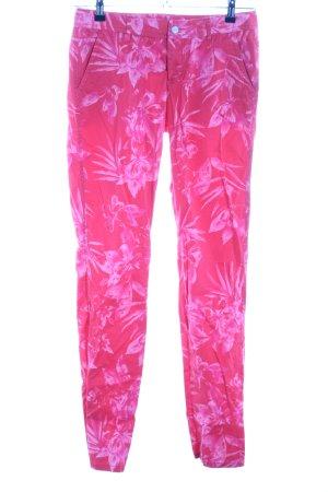 Alberto Stoffen broek roze volledige print casual uitstraling