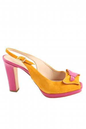 alberto zago High Heel Sandal light orange-pink casual look