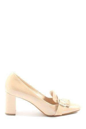 alberto zago High-Front Pumps natural white elegant
