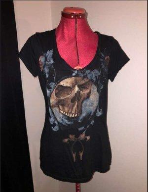 V-Neck Shirt black cotton