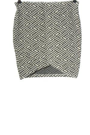 Alcott Mini-jupe noir-blanc imprimé allover style décontracté