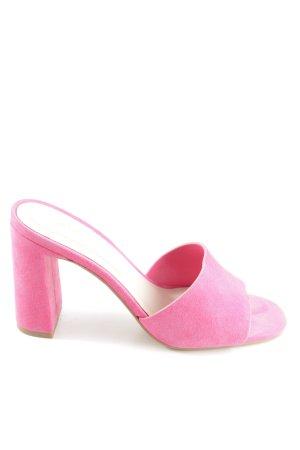 Aldo Absatz Pantoletten pink Business-Look