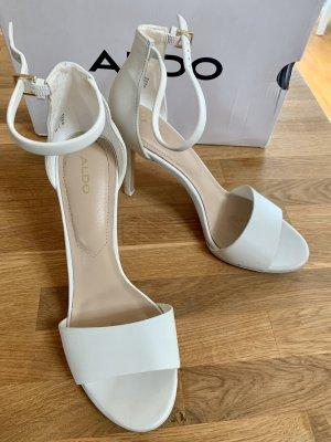 Aldo Hoge hakken sandalen wit