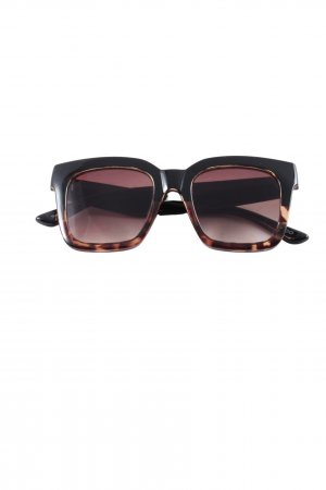 Aldo Angular Shaped Sunglasses black-brown animal pattern casual look