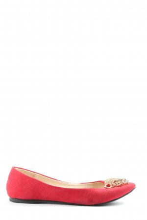Aldo Bailarinas plegables rojo look casual