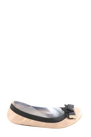 Aldo Ballerines pliables crème-noir style d'affaires