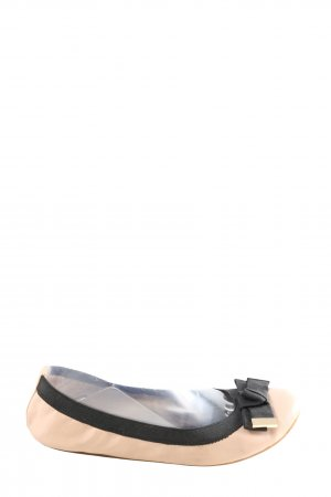 Aldo faltbare Ballerinas creme-schwarz Business-Look