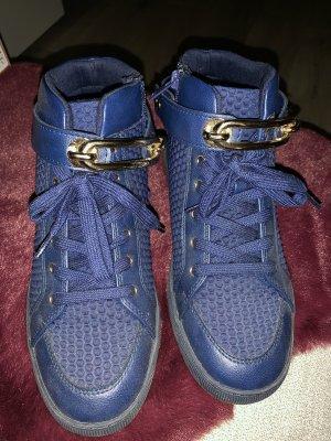 Aldo Sneakers met hak donkerblauw-blauw
