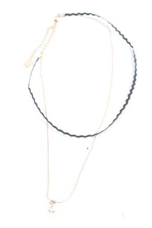 Aldo Collar negro-color oro elegante