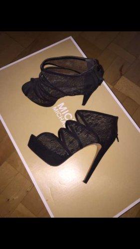 Aldo Plateauzool sandalen zwart