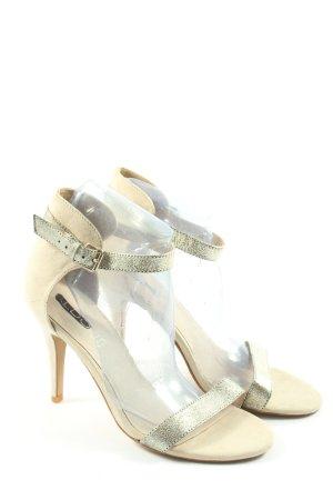 Aldo High Heel Sandaletten goldfarben-wollweiß Casual-Look