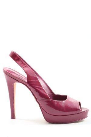 Aldo High Heel Sandaletten pink Glanz-Optik