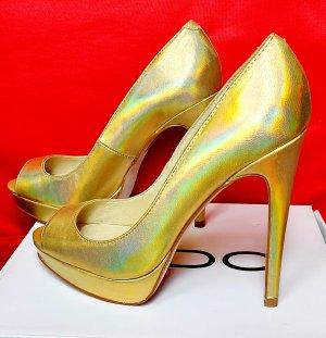 Aldo Peep Toe Pumps gold-colored