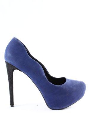 Aldo Pumps met hoge zool blauw zakelijke stijl
