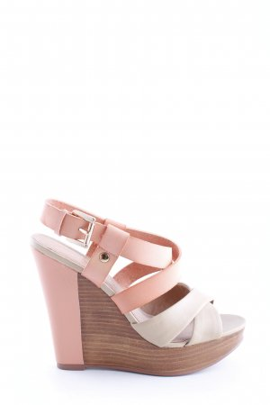 Aldo Wedge Pumps pink-natural white casual look