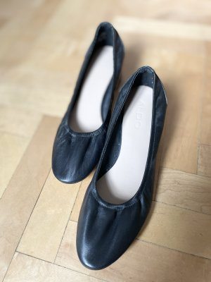 Aldo Leder Ballerina Absatz schwarz Echtleder 38 NEU