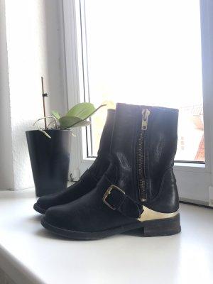 Aldo Krótkie buty czarny-złoto