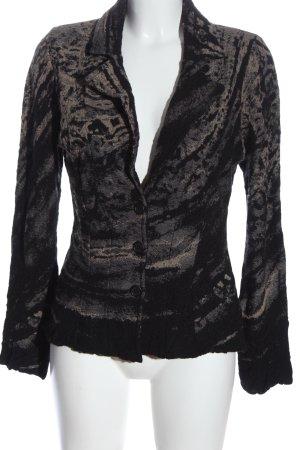ALDO MARTIN'S Korte blazer lichtgrijs-zwart abstract patroon