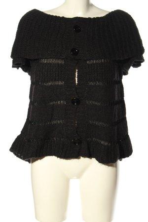 ALDO MARTIN'S Cardigan à manches courtes noir style d'affaires