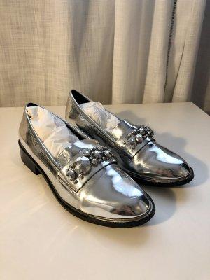 Aldo Moccasins silver-colored