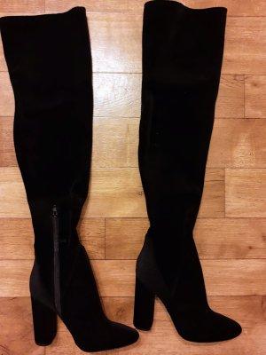 Aldo Kniehoge laarzen zwart