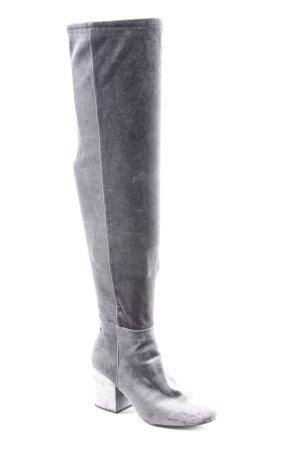 Aldo Kniehoge laarzen grijs Textielvezel