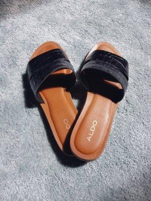 Aldo Romeinse sandalen zwart