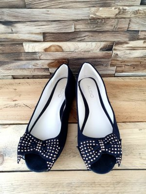 Aldo Peep Toe Ballerinas black
