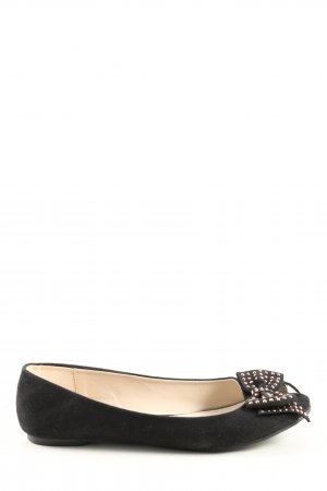 Aldo Peeptoe Ballerinas schwarz Business-Look