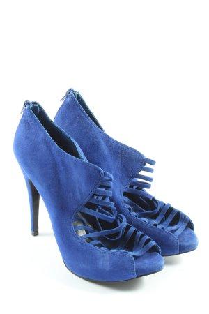 Aldo Escarpins à bout ouvert bleu style décontracté