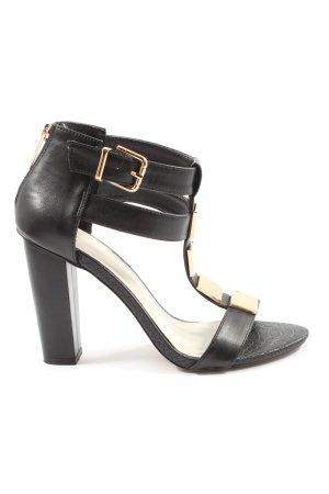 Aldo Platform High-Heeled Sandal black-cream business style