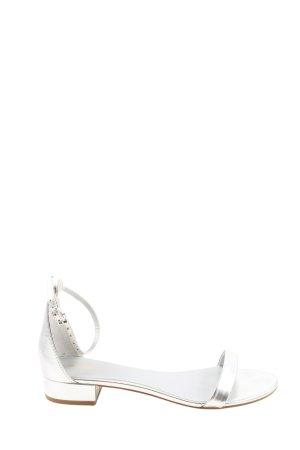 Aldo Strapped Sandals silver-colored casual look
