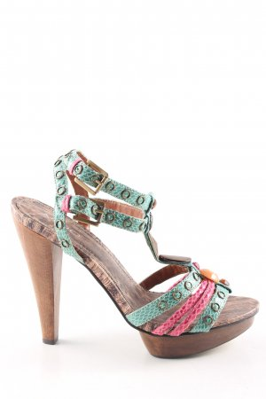 Aldo Strapped High-Heeled Sandals multicolored extravagant style