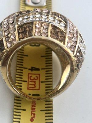 Aldo Ring with Decorative Stone gold orange-cognac-coloured