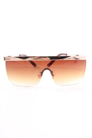 Aldo Lunettes de soleil rondes brun-doré élégant