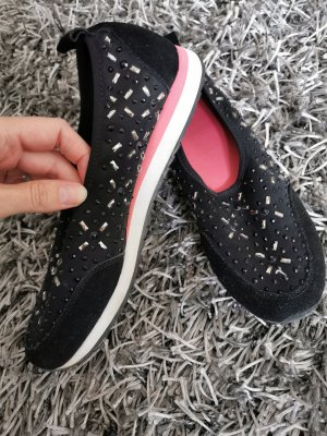 Aldo Sneakersy wciągane czarny-różowy