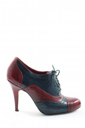 Aldo Lace Shoes red-blue casual look