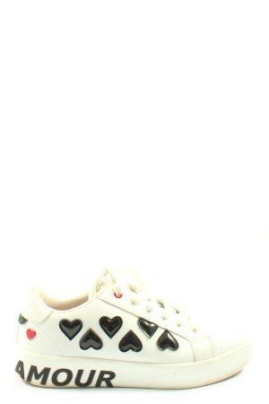 Aldo Lace-Up Sneaker white-black casual look