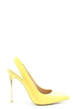 Aldo Tacones sin talón amarillo pálido elegante